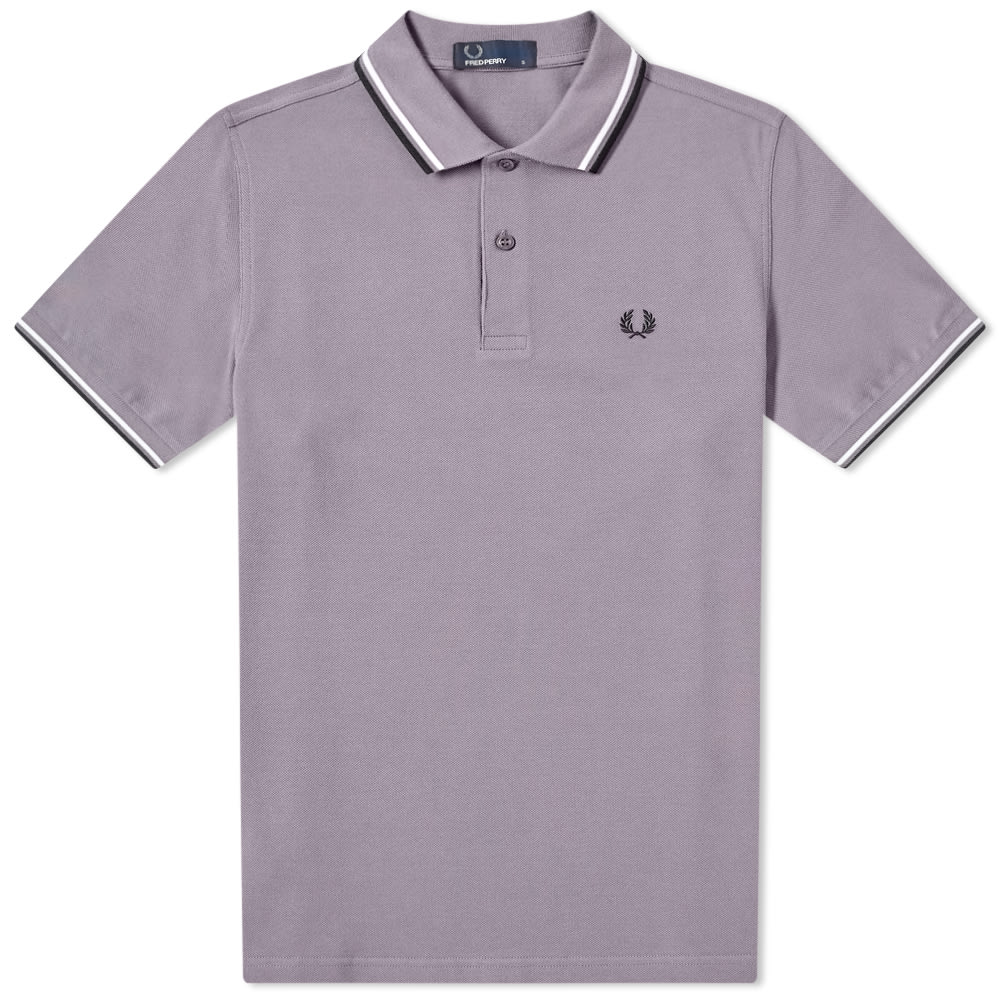 9d6c90599 Fred Perry Authentic Twin Tipped Polo Iced Slate, White & Blue | END.
