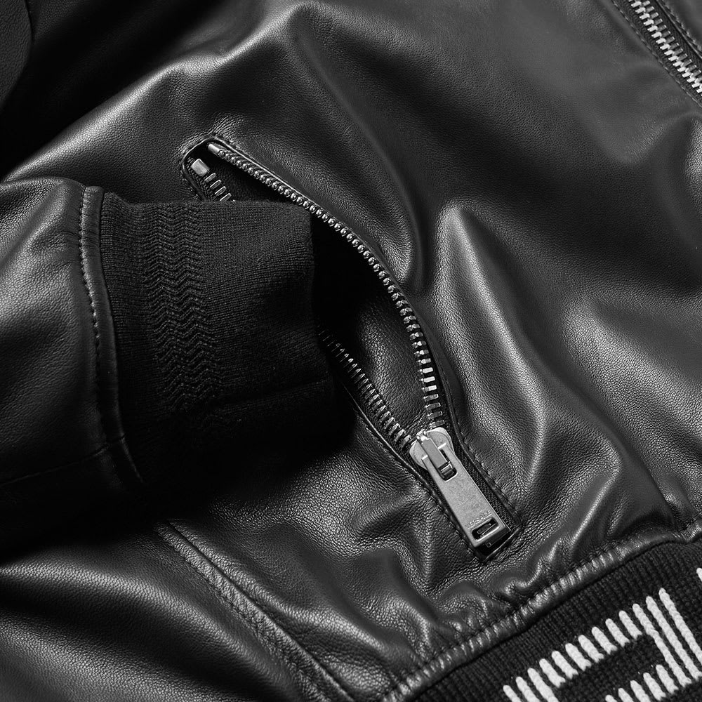 fd8c6c1e Versace Hooded Greek Rib Leather Jacket