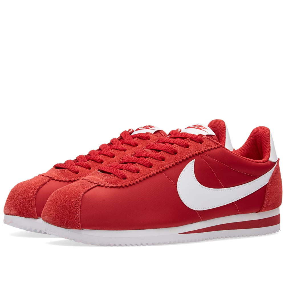 nike classic cortez nylon og gym red white. Black Bedroom Furniture Sets. Home Design Ideas