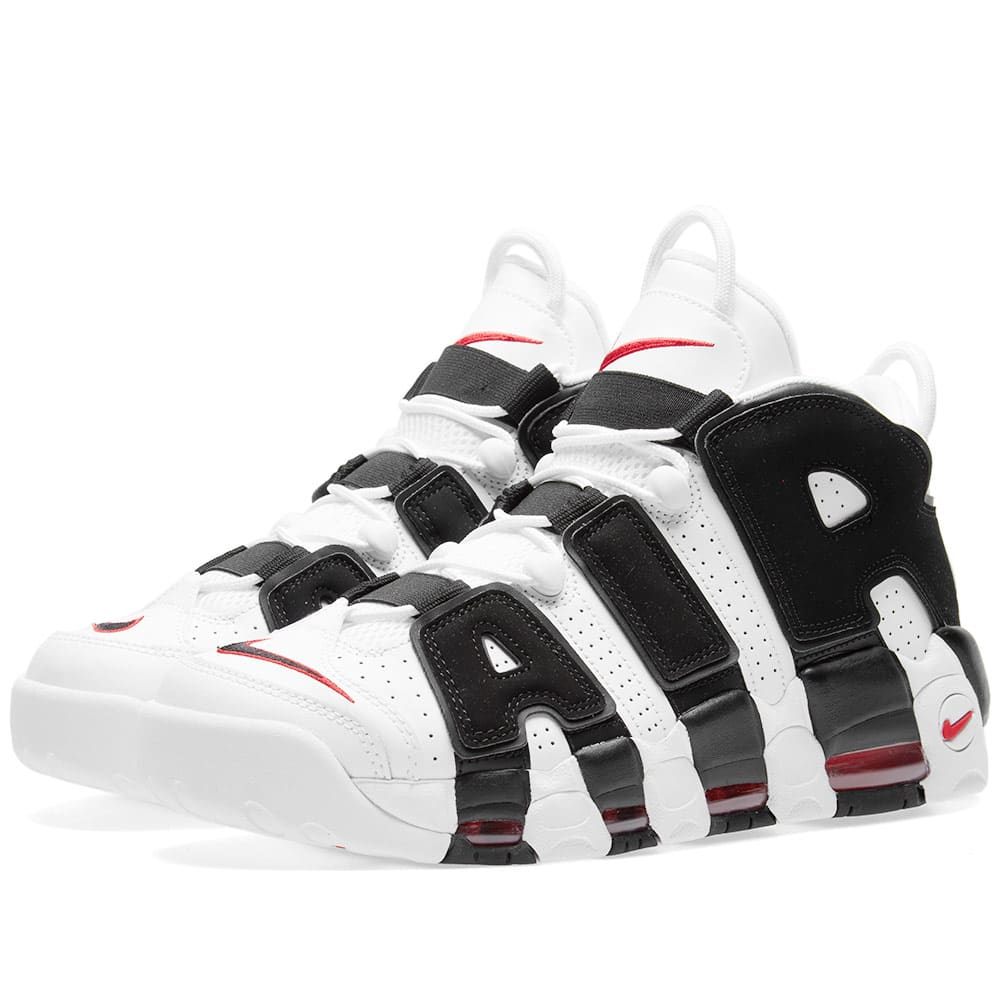 brand new 6b4a7 ea14a Nike Air More Uptempo White, Black   University Red   END.