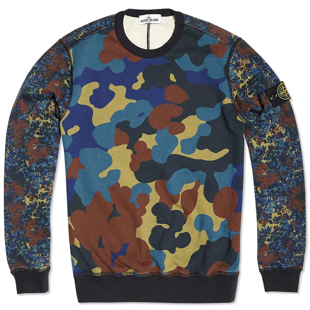 stone island camo sweater camouflage. Black Bedroom Furniture Sets. Home Design Ideas