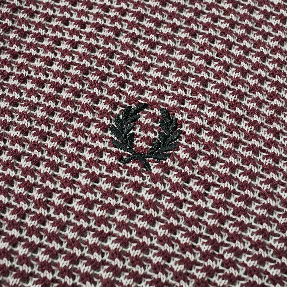 453d7019 Fred Perry Reissue Two Colour Texture Knit Polo Maroon | END.