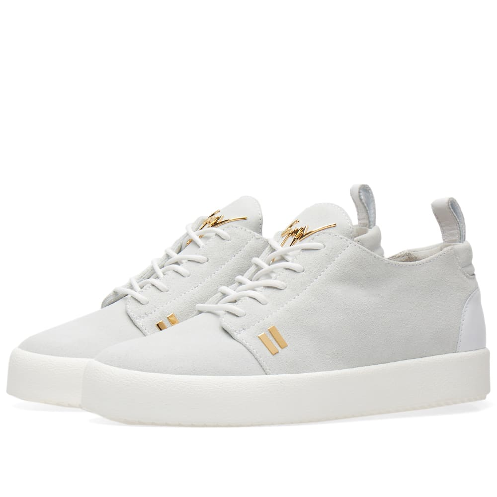 986cd6c9288240 Giuseppe Zanotti Gold Tab Detail Low Sneaker White