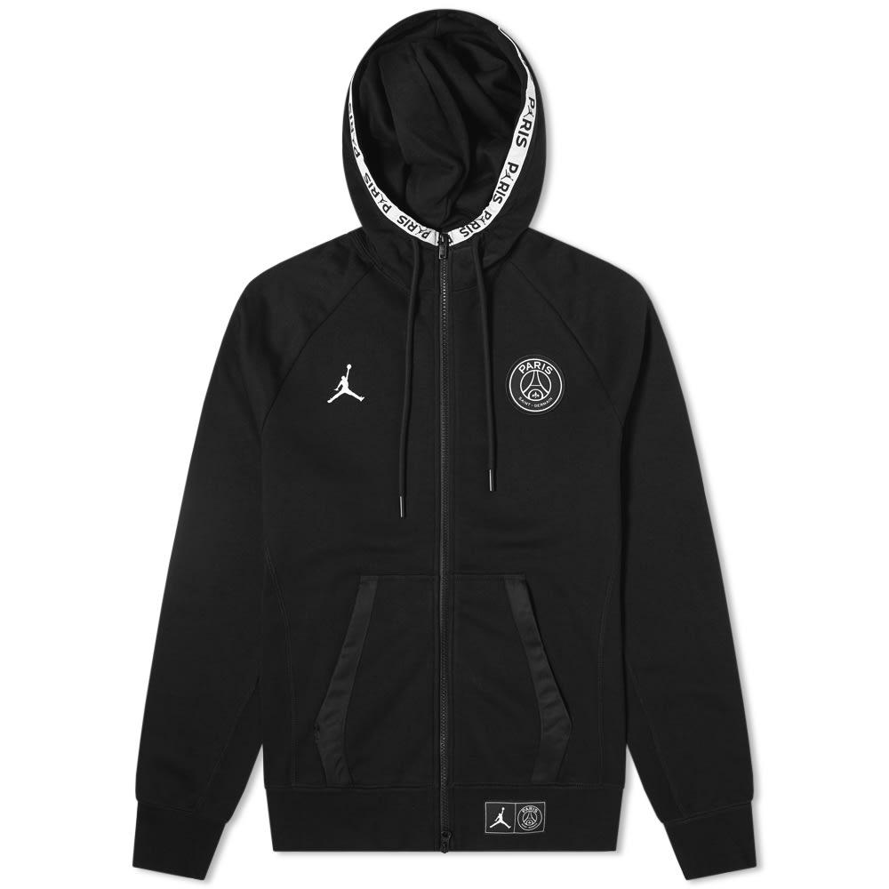 Air Jordan x PSG Zip Up Fleece Black | END.