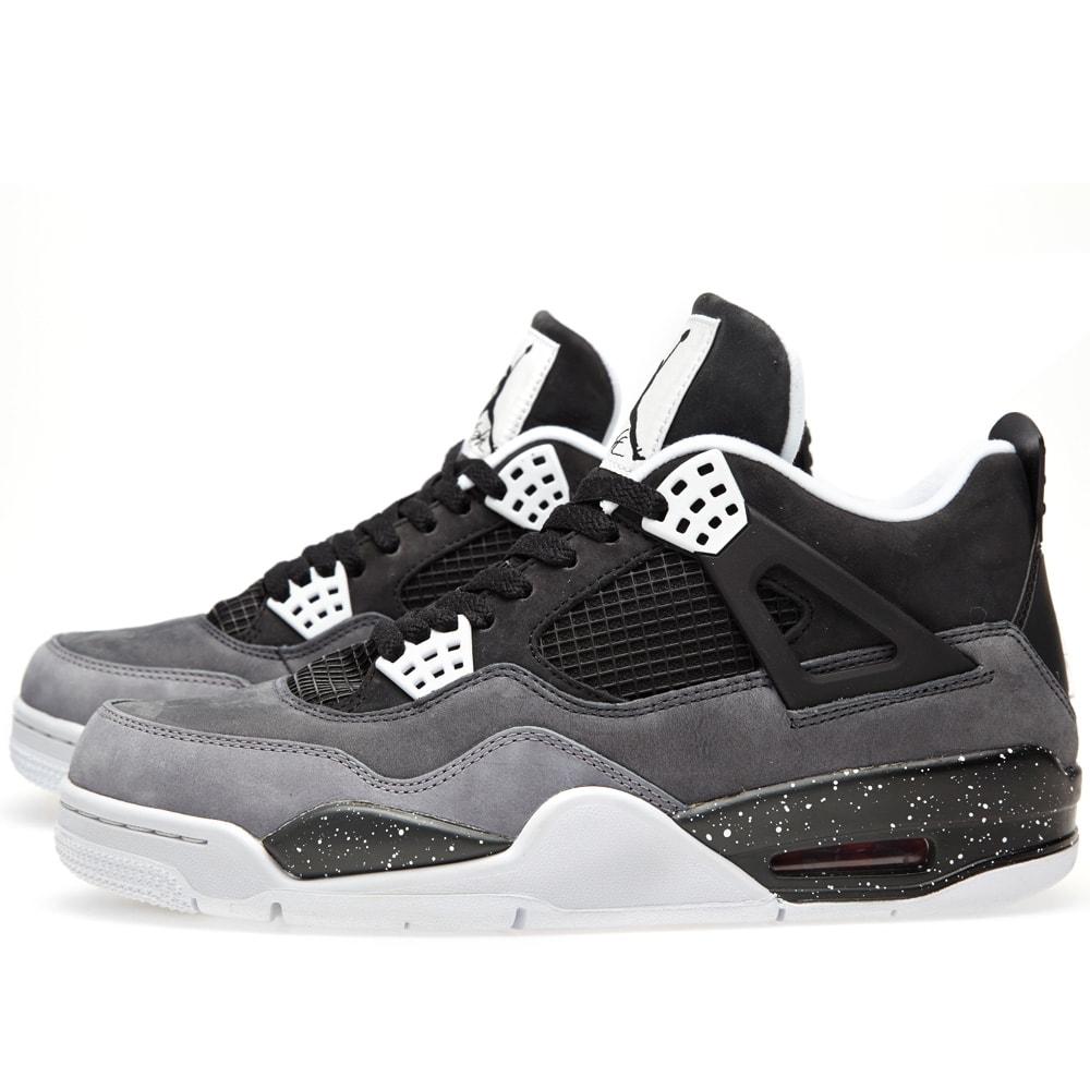 more photos 804cd a579e Nike Air Jordan IV Retro  Fear  Black, White   Cool Grey   END.