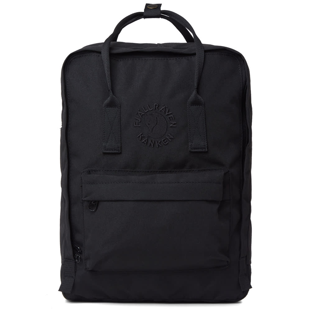 FJALL RAVEN Water-Resistant Re-Kanken Backpack in Black