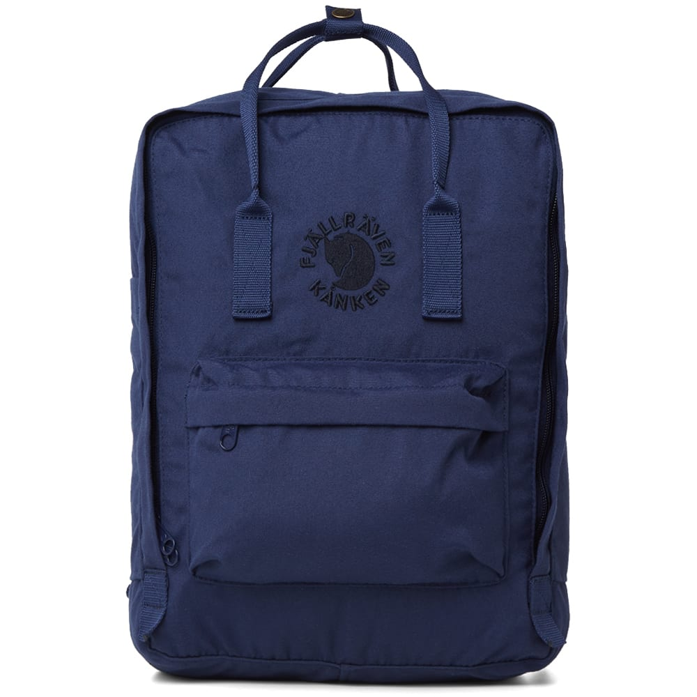 FJALL RAVEN Water-Resistant Re-Kanken Backpack in Blue