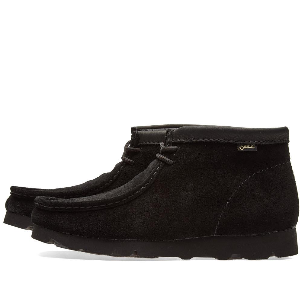 26f05f3d98f31 Clarks Originals Wallabee Boot GTX Black Suede | END.