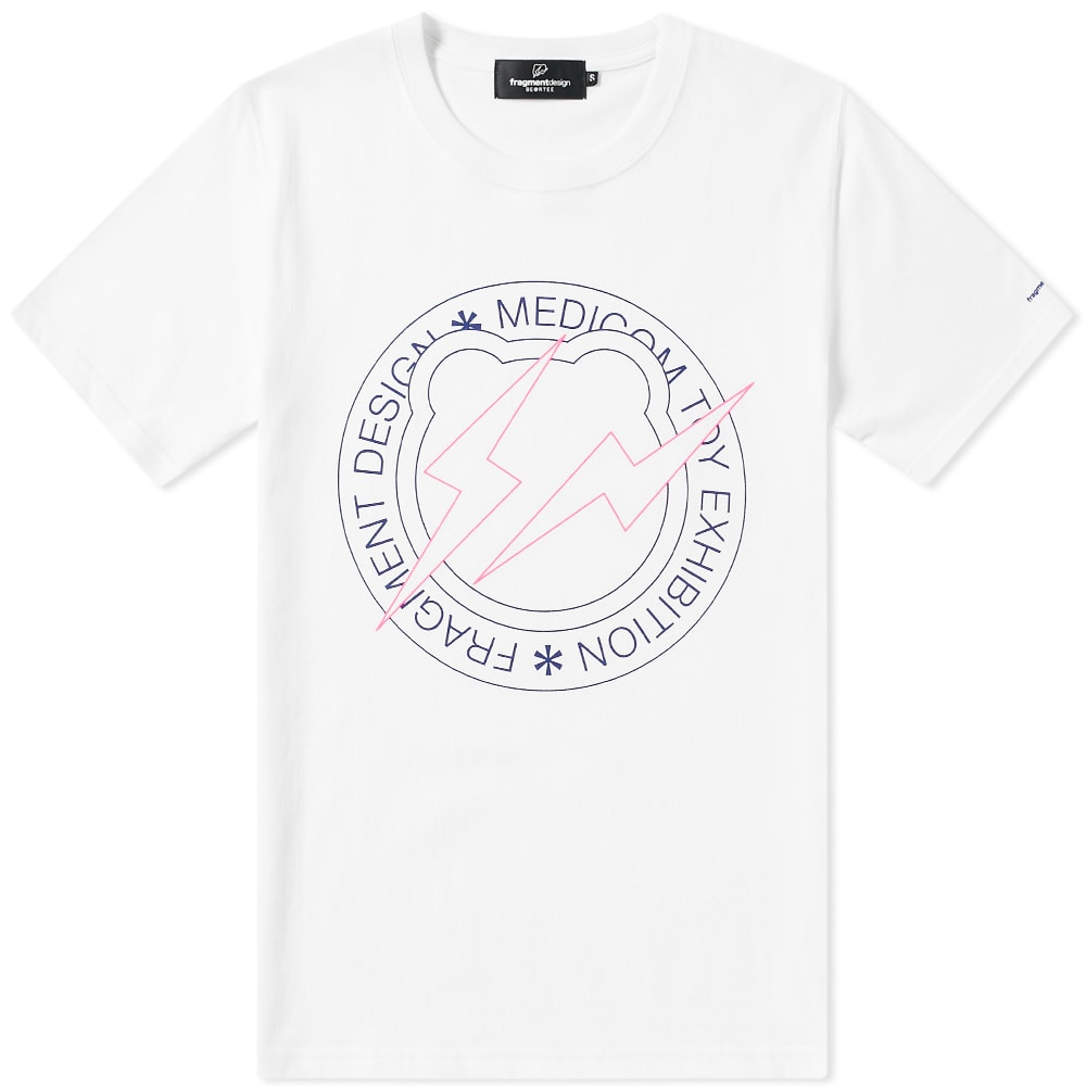 MEDICOM Medicom X Fragment Design Circle Logo Be@Rtee in White