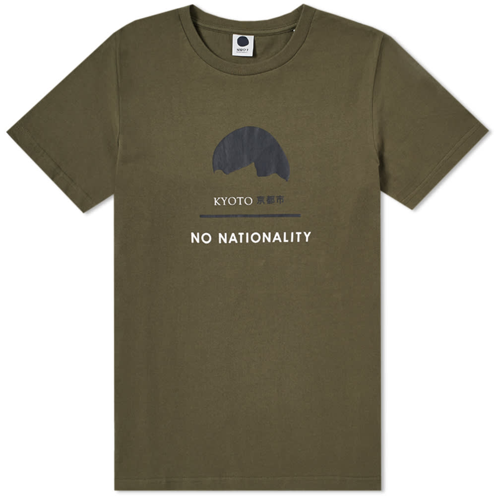 NN.07 Printed Cotton-Blend Jersey T-Shirt in Green