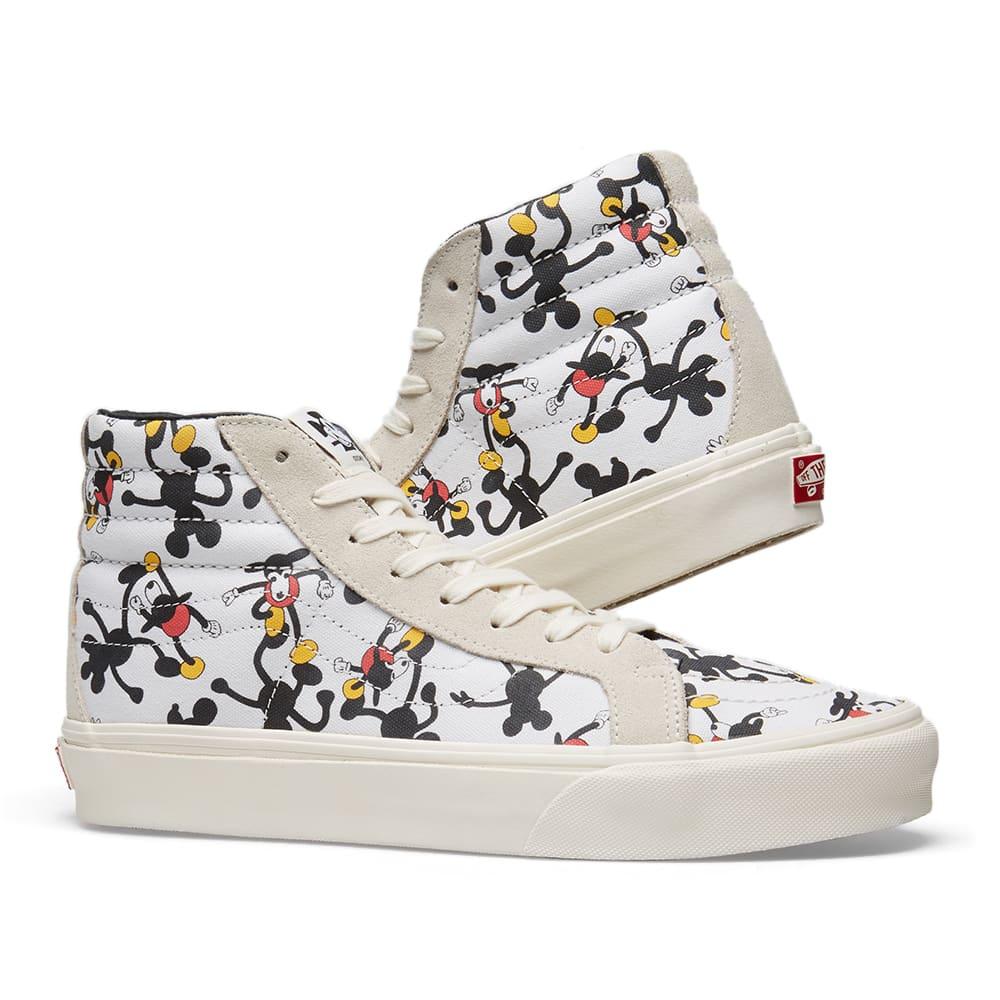 01150a169a Vans Vault x Disney x Geoff McFetridge SK8-Hi LX White