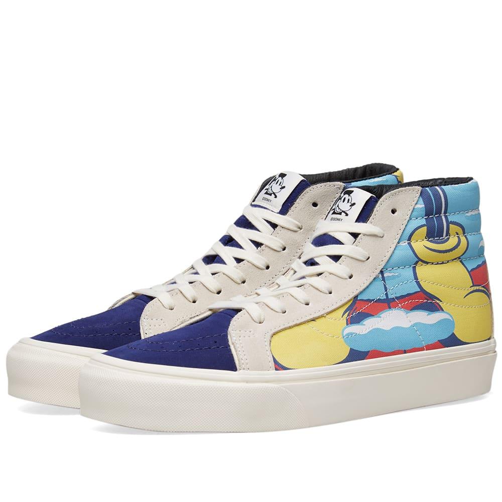 24ddad0f34 Vans Vault x Disney x JVH SK8-Hi LX White   Blue