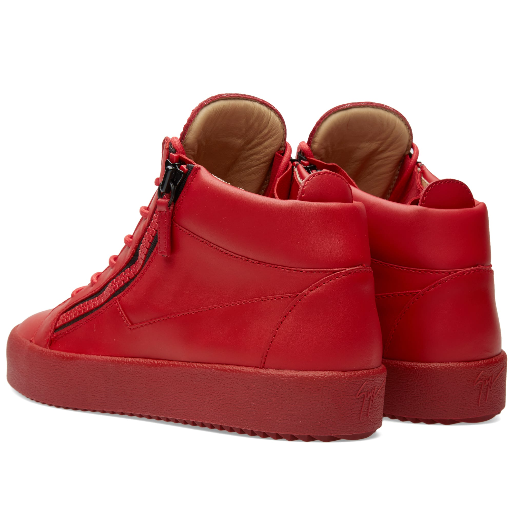 279503cd40386 Giuseppe Zanotti Double Zip Mid Sneaker