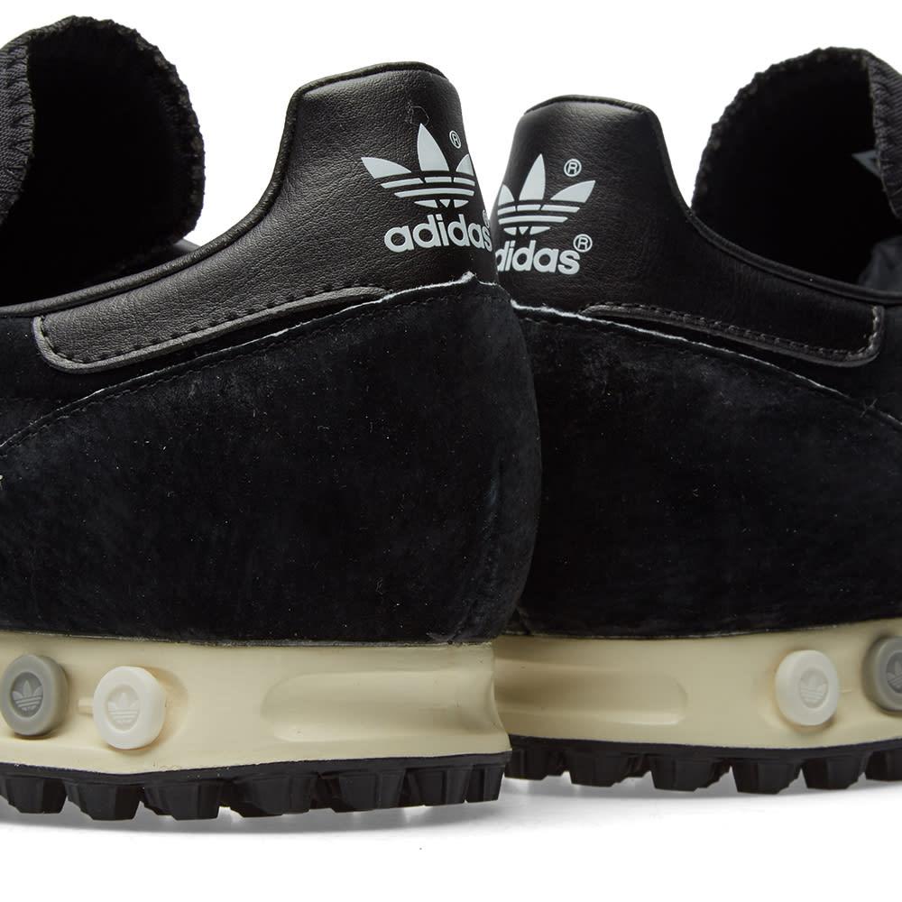 Details about Adidas LA Trainer Men's Shoes Trainers Leather Black Retro 42 23