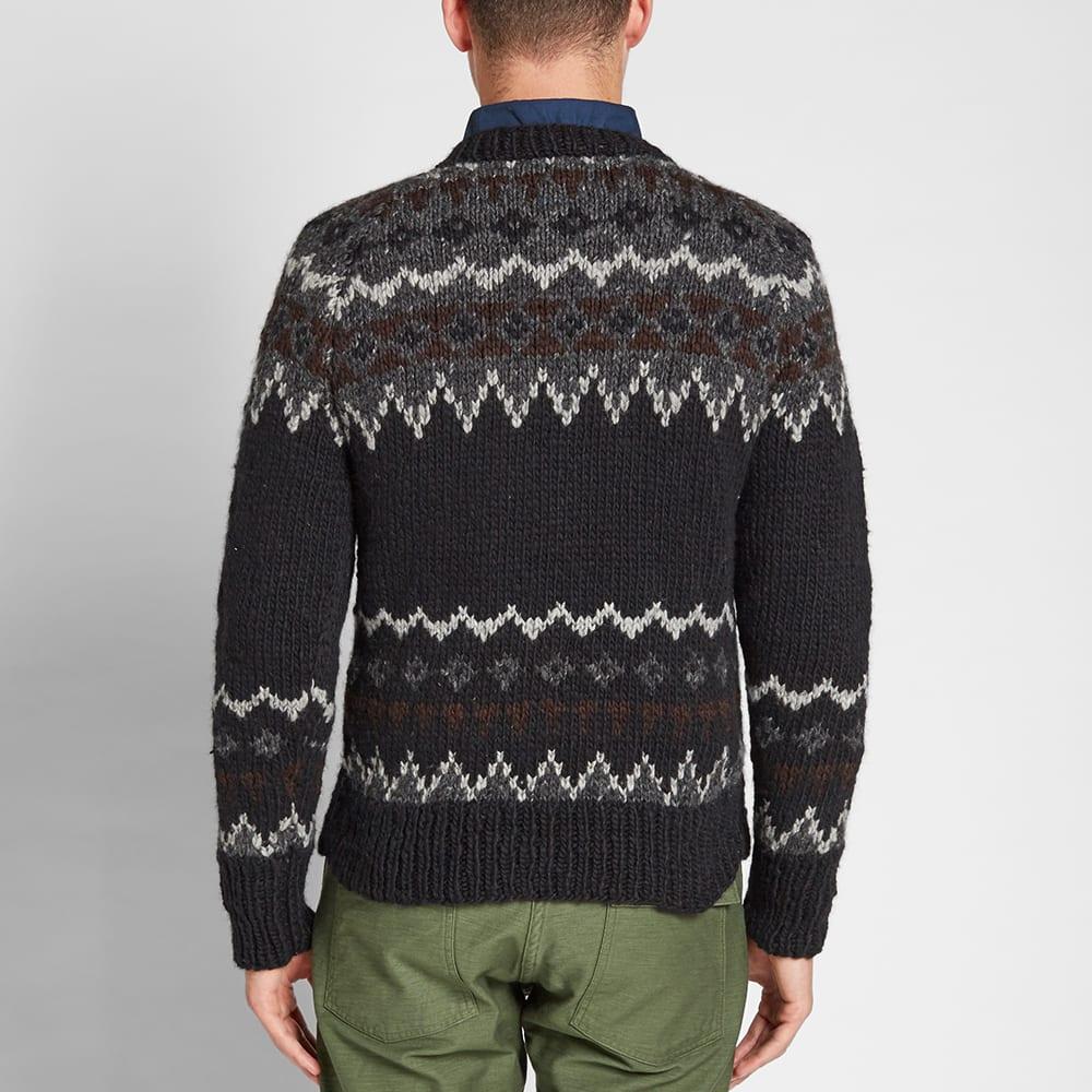 chamula fair isle pullover knit black. Black Bedroom Furniture Sets. Home Design Ideas
