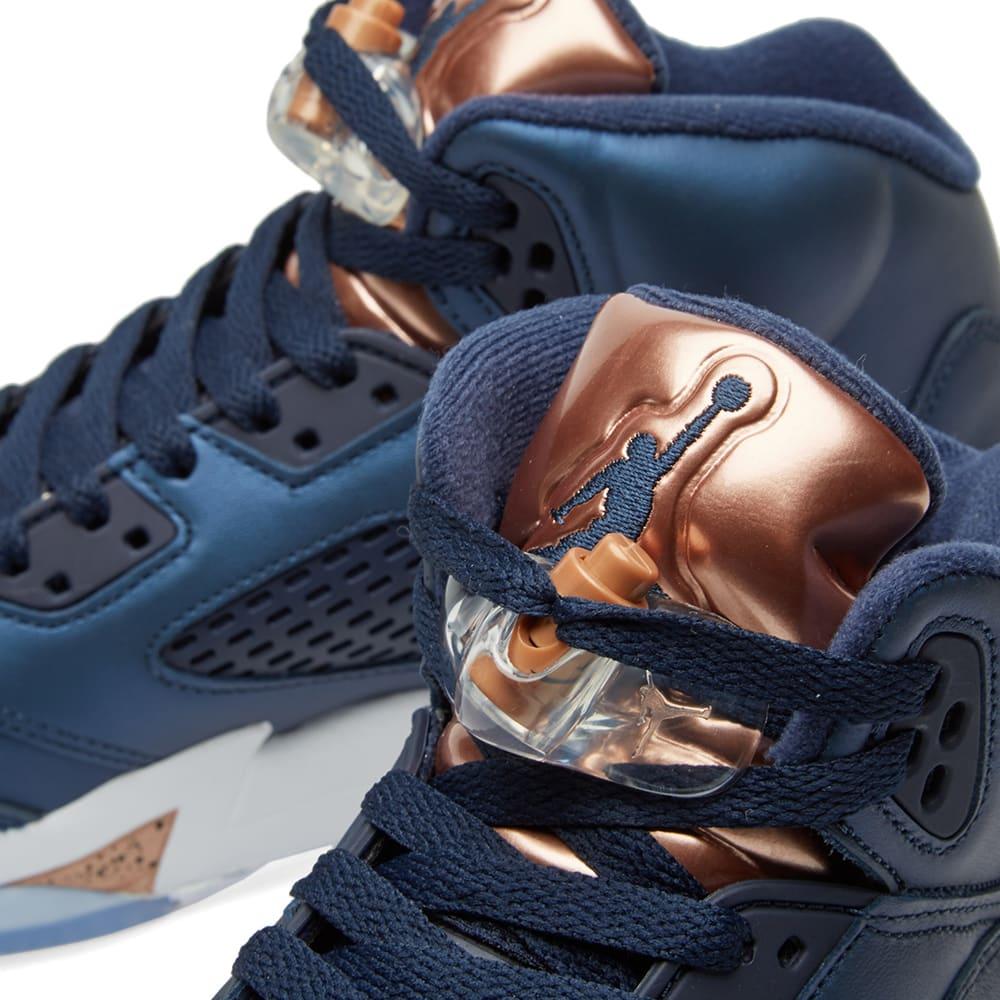 size 40 ef9c0 f15c6 Nike Air Jordan 5 Retro GS Obsidian   Metallic Bronze Red   END.