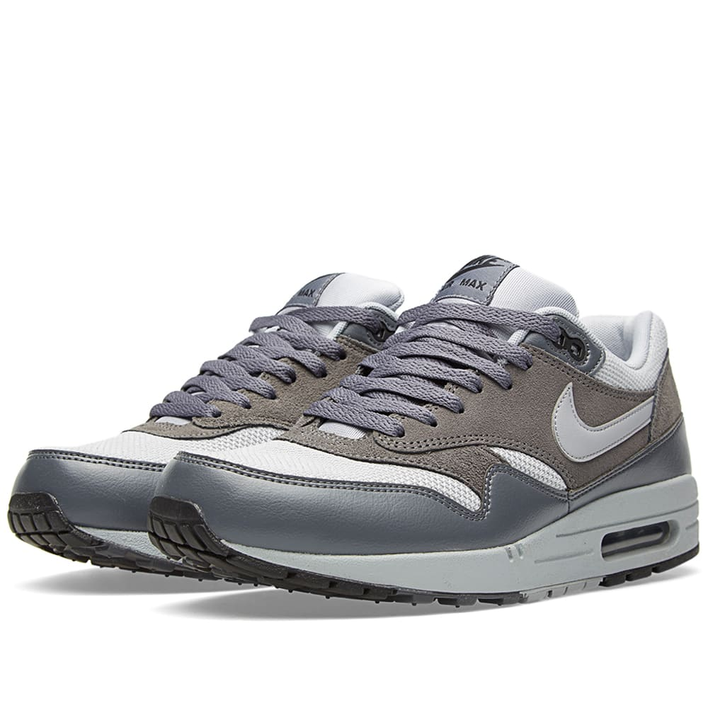 quality design cf591 cc45e Nike Air Max 1 Essential Wolf Grey   Dark Grey   END.