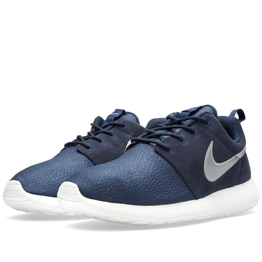 online retailer 7e0da 0c842 Nike Roshe Run Suede Obsidian   Metallic Silver   END.