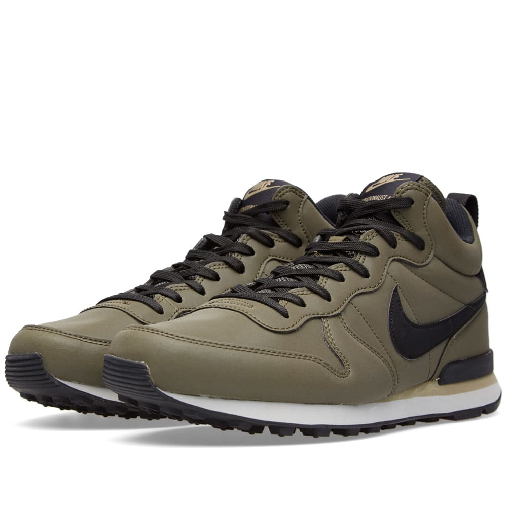 sports shoes c1356 b0c54 Nike Internationalist Mid QS Cargo Khaki & Black | END.