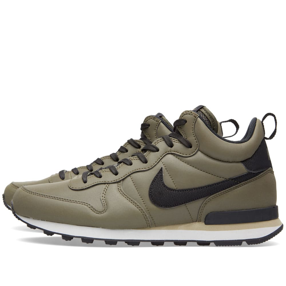 nike internationalist mid qs cargo khaki black. Black Bedroom Furniture Sets. Home Design Ideas