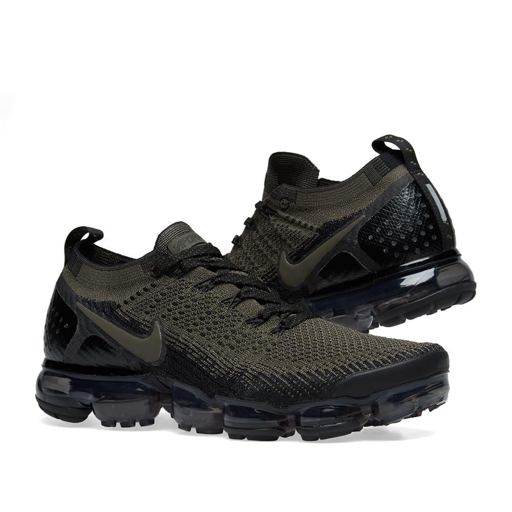 sports shoes f8a60 a6c6e Nike Air VaporMax Flyknit 2. Cargo Khaki   Black