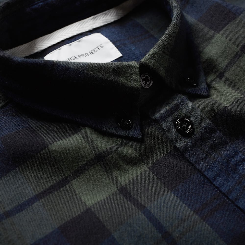 e22852ccf0 Norse Projects Anton Flannel Check Shirt Black Watch Check | END.