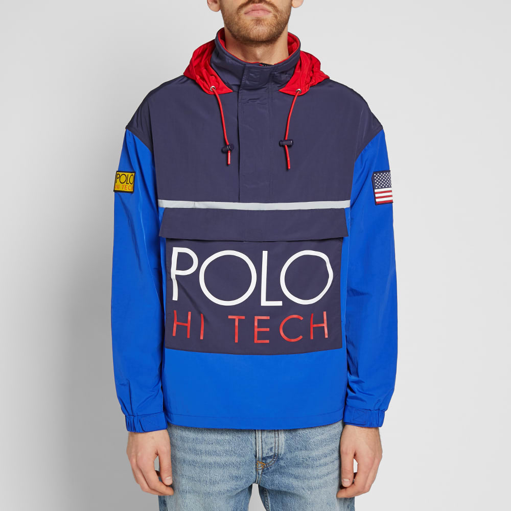 Tech Hi Jacket Ralph Polo Pullover Colour Block Lauren yvf7gYb6