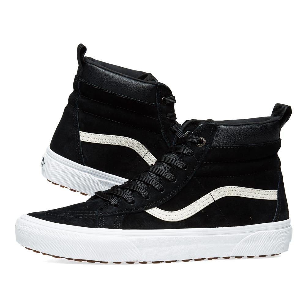 35356732907bb9 Vans Leather Winterised Sk8-Hi MTE Black Night   True White