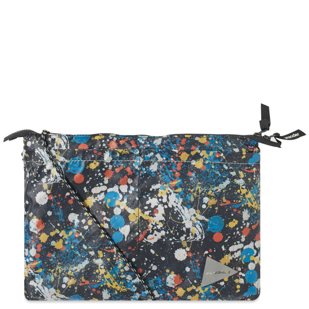 And Wander Splatter Print Sacoche by And Wander