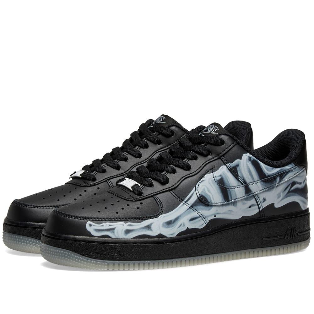 Nike Air Force 1 07 Skeleton QS Black Black   5Pointz