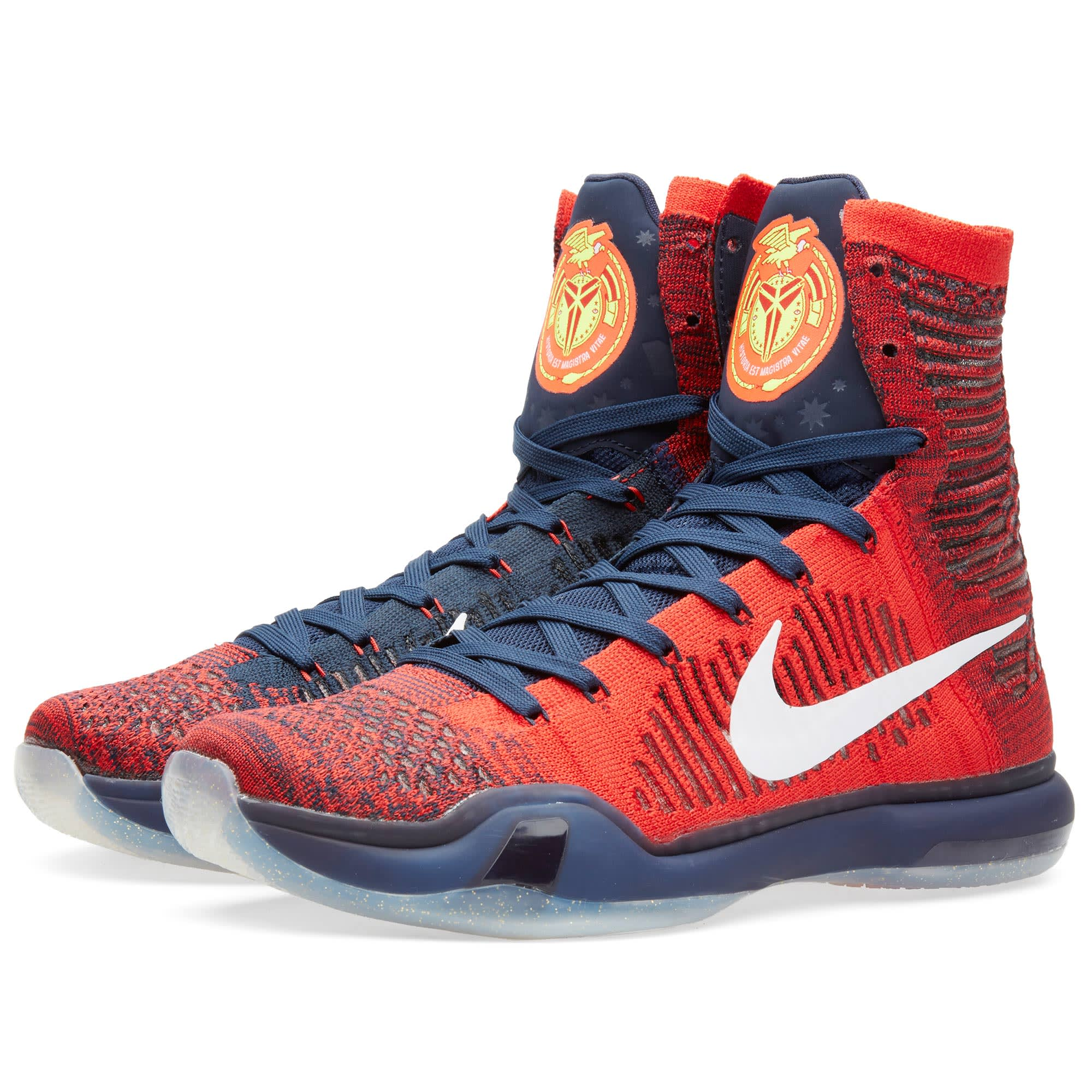 buy popular 634a8 00816 Nike Kobe X Elite  American  University Red   White   END.