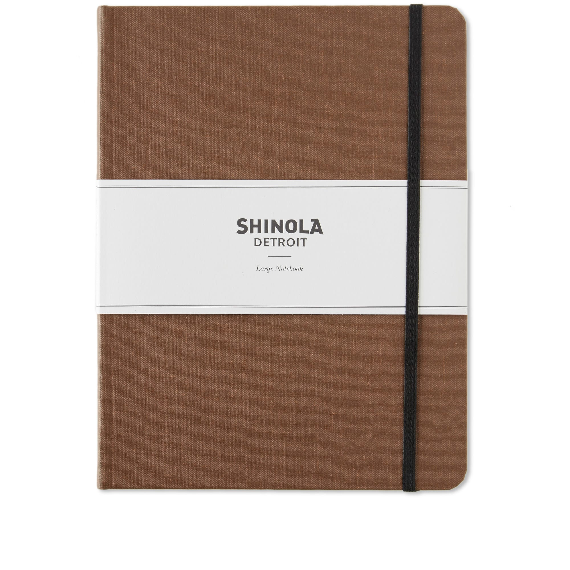 Shinola Large Lined Journal Hickory Hard Linen End