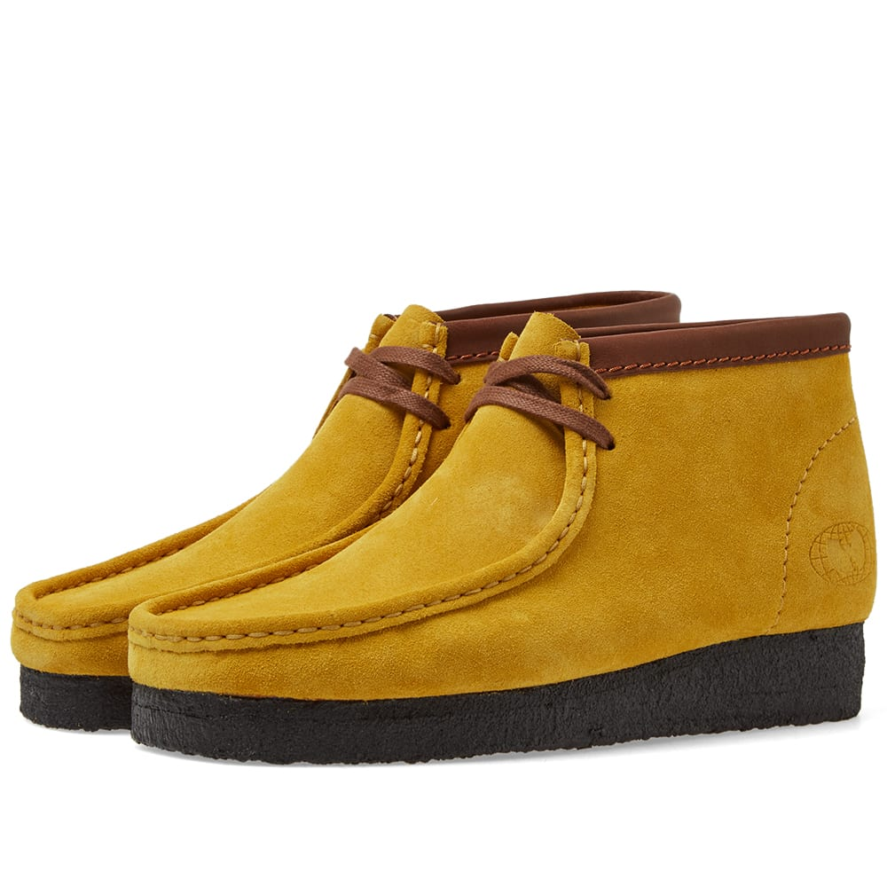 c16389597fa14 Clarks Originals x Wu Wear Wallabee Boot Yellow Suede | END.