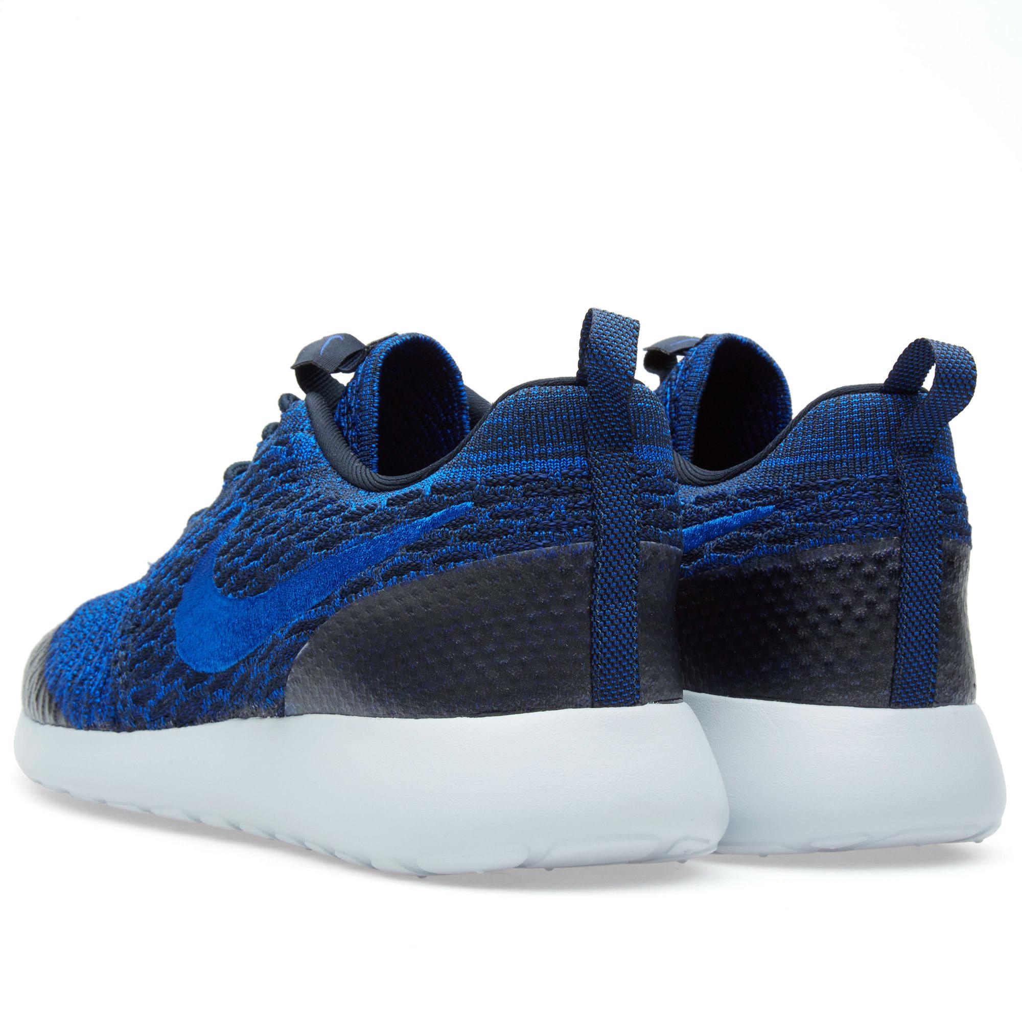 026ae46d01a83 Nike W Roshe One Flyknit Dark Obsidian   Racer Blue