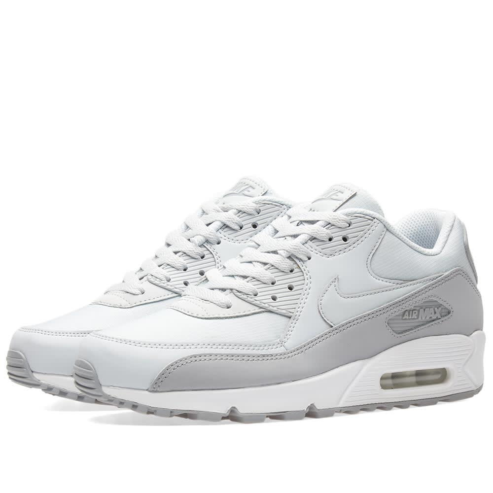 best website 61a00 dc780 Nike Air Max 90 Essential Wolf Grey, Platinum   White   END.