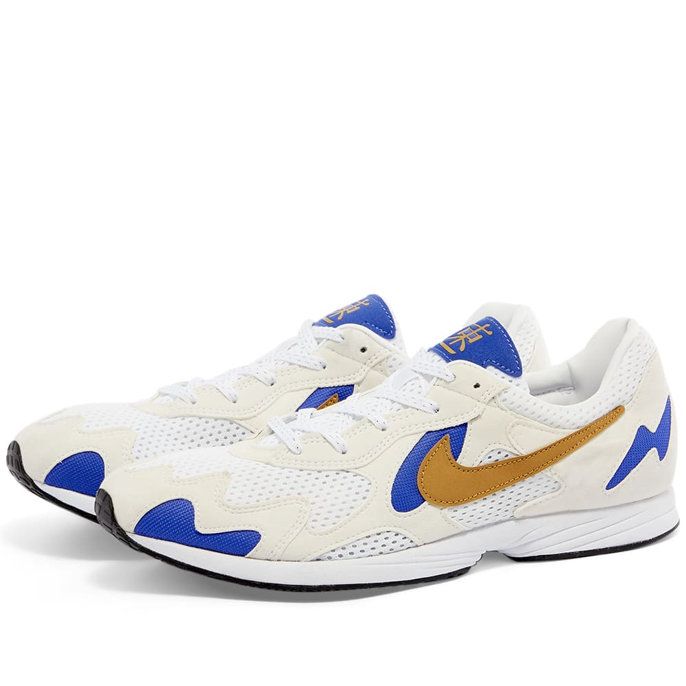 sustantivo Microbio Borradura  Nike Air Streak Lite White, Gold & Violet | END.