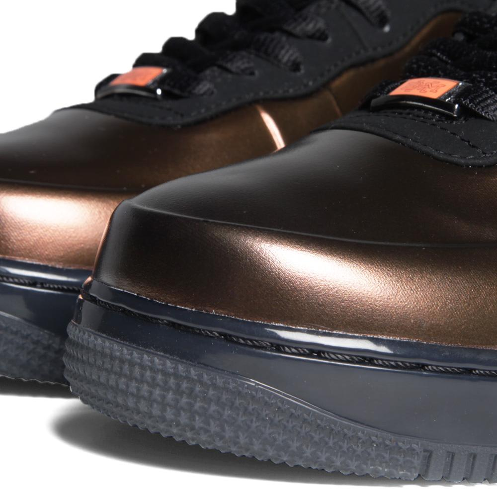 new style 1fa63 ccd2d Nike Air Force 1 Foamposite Black History Month QS Metallic Copper   END.
