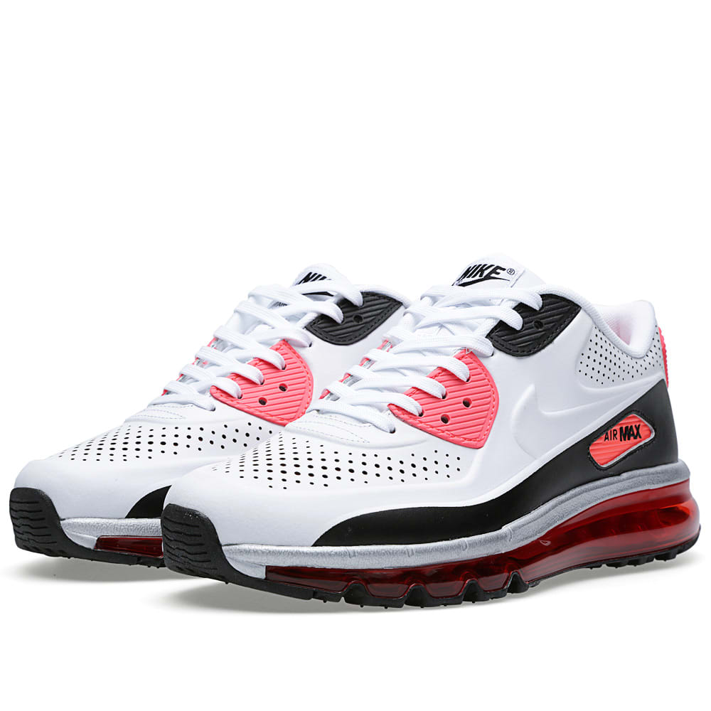 new arrival ae4c1 c106f Nike Air Max 90-2014 Leather QS White, Black   Infrared   END.