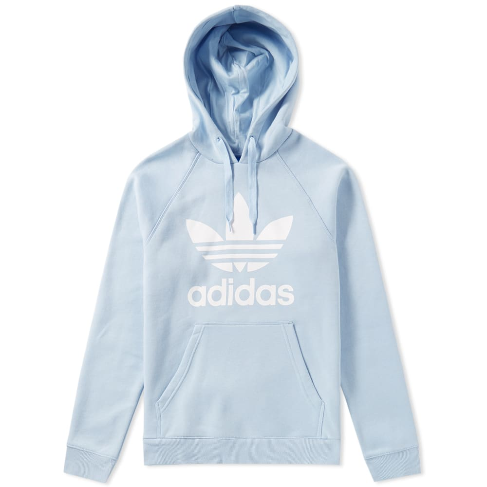 adidas original trefoil hoody easy blue. Black Bedroom Furniture Sets. Home Design Ideas