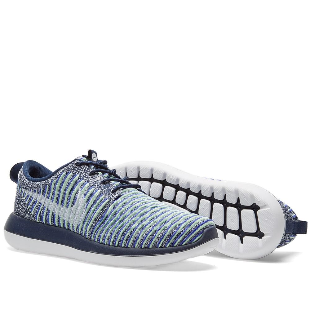 4bbd24efe6628 Nike W Roshe Two Flyknit College Navy   Binary Blue