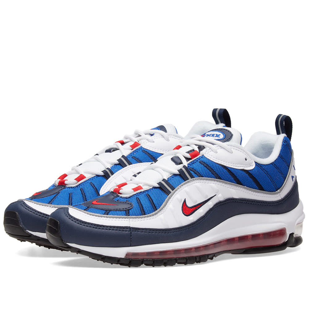 5237dd88b47 Nike Air Max 98 OG White   University Red