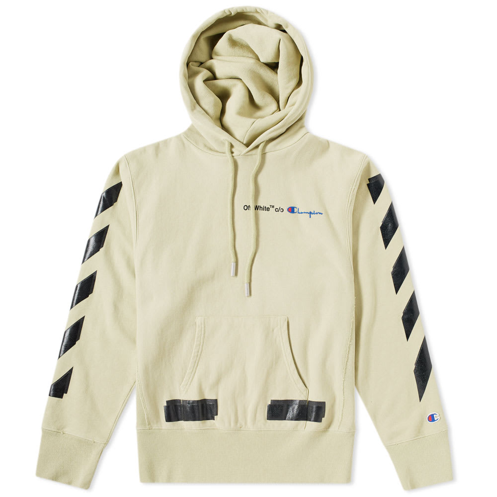 082fd99d Off-White x Champion Hoody Beige & Black | END.