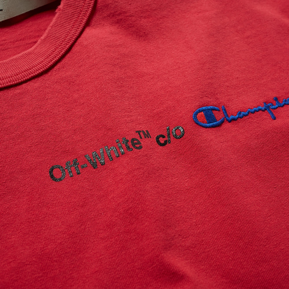 3be8fc8cf2f0 Off-White x Champion Tee Red & Black | END.
