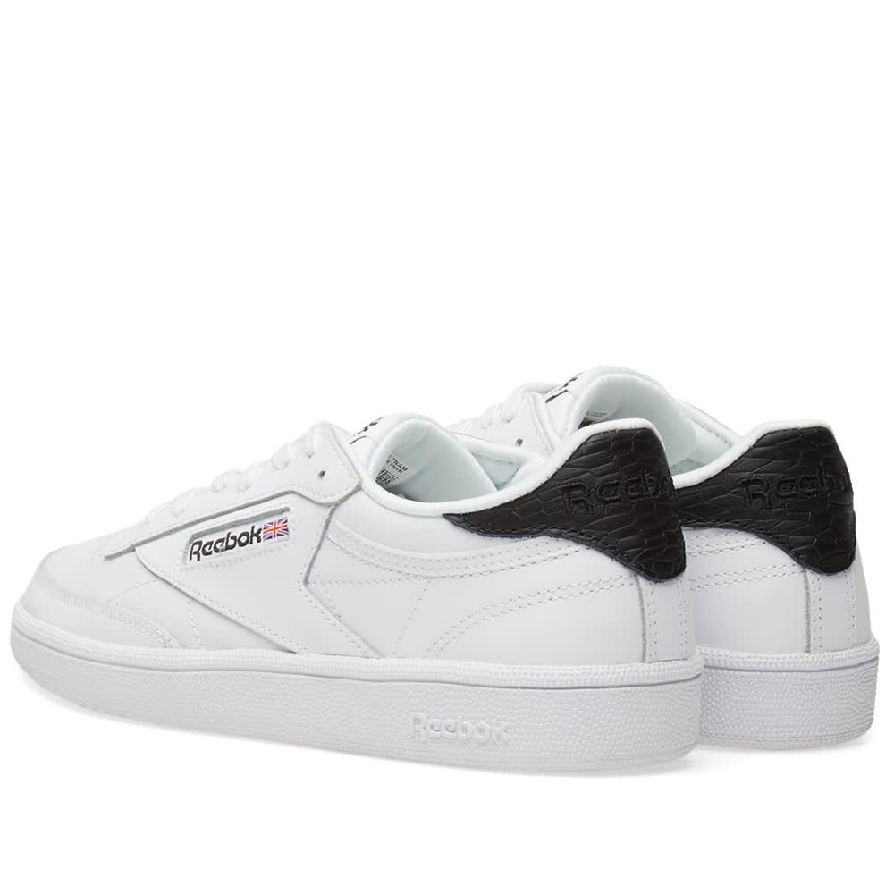 3c80ea937a52e Reebok Club C 85 Embossed W White   Black