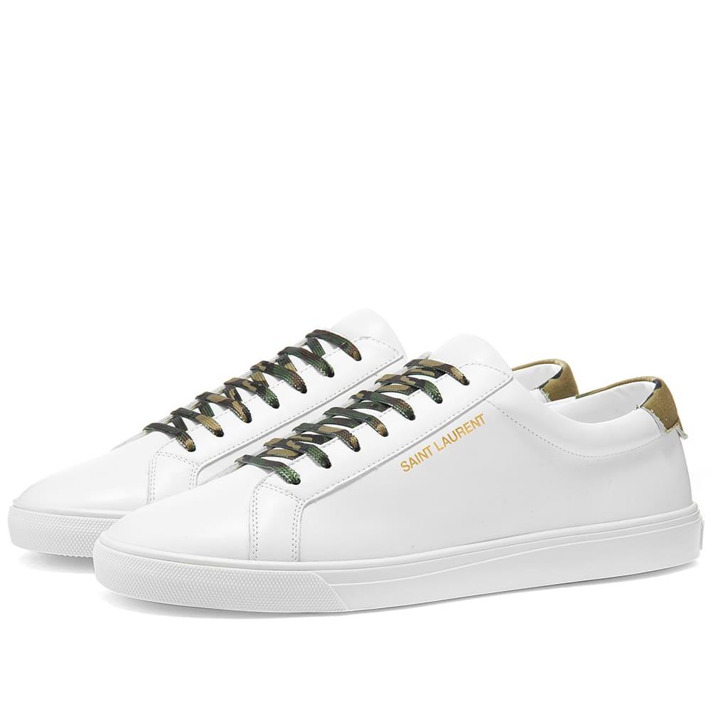 Saint Laurent Andy Low Top Sneaker Camo