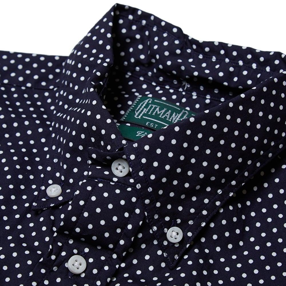 Gitman vintage button down short sleeve polka dot shirt for Button down polka dot shirt