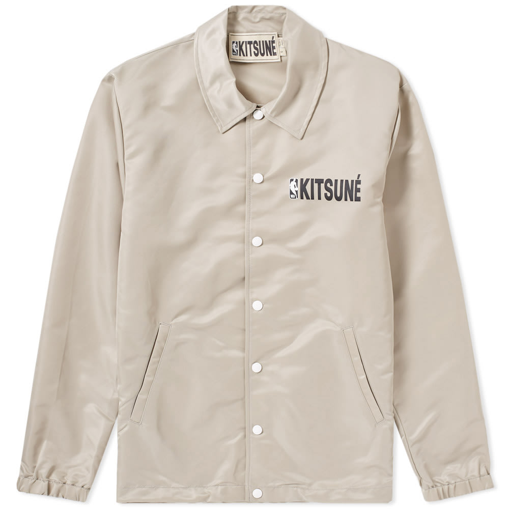 MAISON KITSUNE X NBA HOODED COACH JACKET
