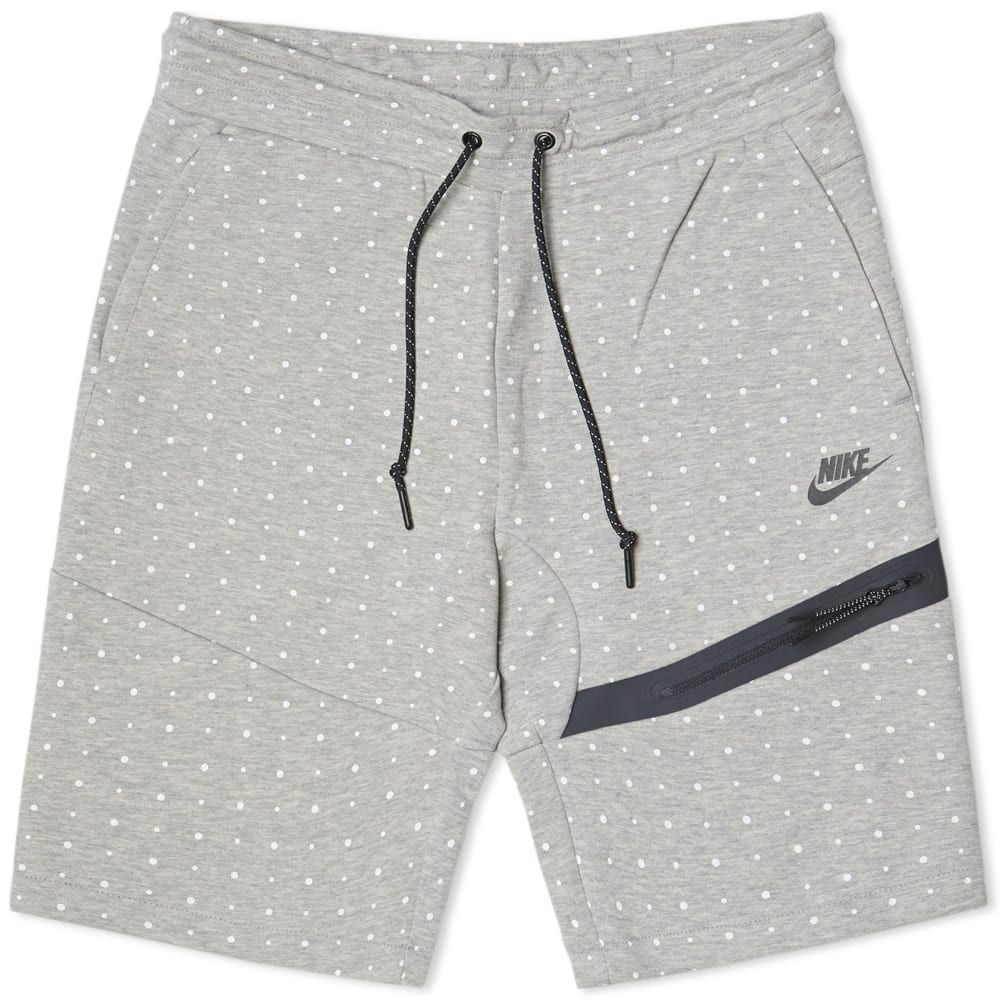 nike tech fleece polka dot short dark grey heather. Black Bedroom Furniture Sets. Home Design Ideas