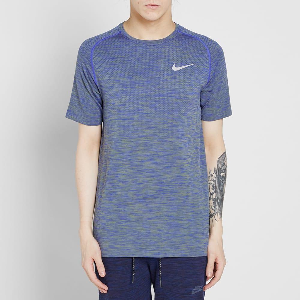 d2fc7444 Nike Dri-Fit Knit Tee Paramount Blue & Palm Green | END.