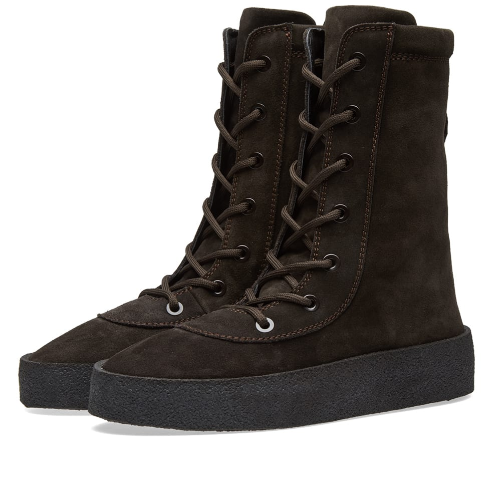 13be4273d9a Yeezy Season 4 Crepe Boot Oil